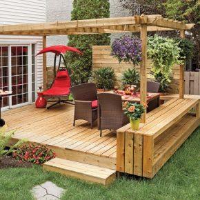 Дизайн двора частного дома – 150 фото идей обустройства и варианты создания современных проектов