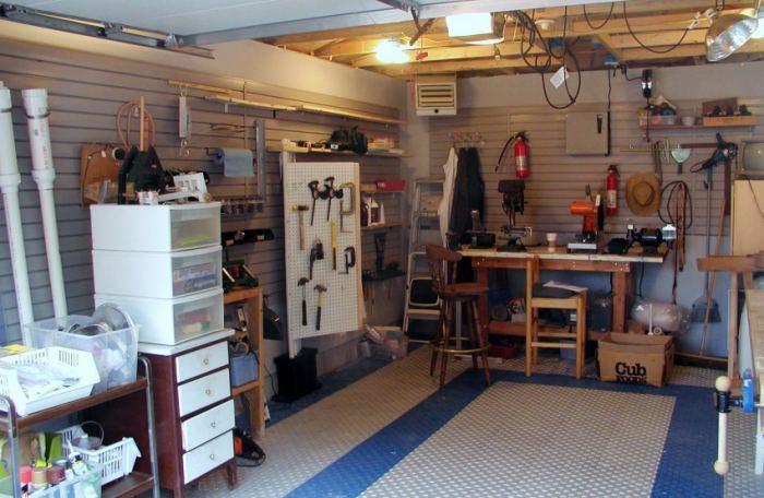 Как обустроить гараж своими руками   фото
