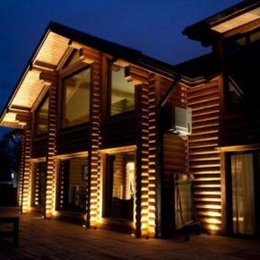 Подсветка фасада загородного дома: обзор лучших идей при оформлении светодизайна частного дома (150 фото)