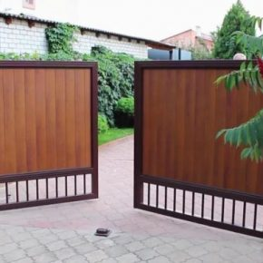 Распашные ворота – обзор лучших вариантов для частного дома или дачи. Фото и видео инструкция по установке