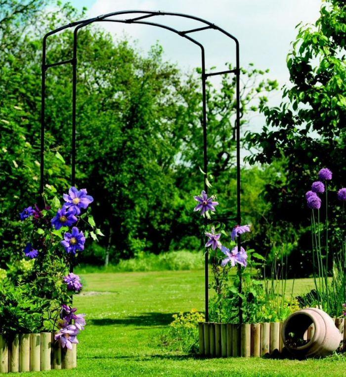 Садовая арка своими руками - лучшие проекты из современных материалов (120 фото)