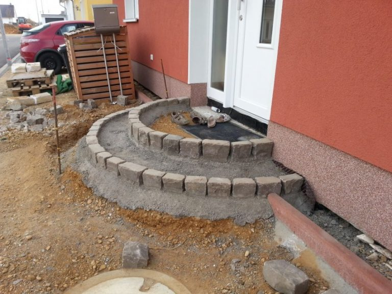 как построить порог возле дома своими руками