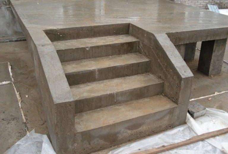 бетонное крыльцо для дома своими руками