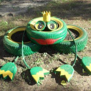 Поделки из шин своими руками: идеи применения старых шин для украшения сада и огорода (120 фото + видео)