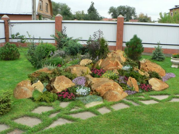 Каменистый сад: устройство своими руками, фото.