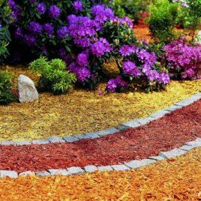 Цветная декоративная щепа: варианты применения, основные достоинства и 145 фото лучших идей декора