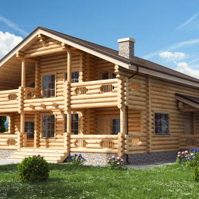 Лучшие варианты бревенчатых домов (100+фото)